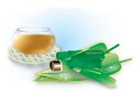 麦茶と水羊羹